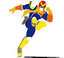 Captain Falcon Blocky by Blitzpulse