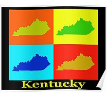Colorful Kentucky Pop Art Map Poster
