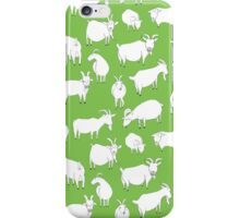 Charity fundraiser - Green Goats iPhone Case/Skin