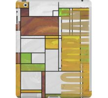 Mondrian Brown Yellow Green  iPad Case/Skin