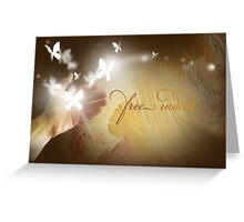 Free Indeed Glowing Butterflies Greeting Card