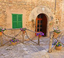 The Green Shutter With Pot Plants..........................Majorca by Fara