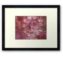 Pink Gem - JUSTART © Framed Print