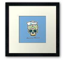 Dia de los Muertos/mexican sailor skull Framed Print