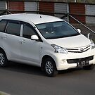white colored toyota avanza by bayu harsa
