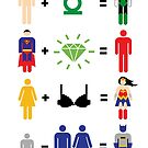 Justice League Math by mjcowan