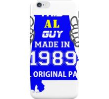 This Alabama Guy Made in 1989 iPhone Case/Skin