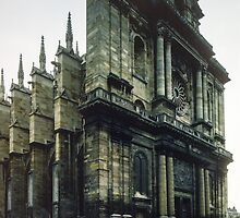 Facade Cathedral St Etienne Chalons sur Marne France 198405060039 by Fred Mitchell