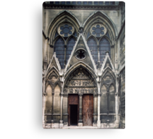 Open door to Cathedral St Etienne Chalons sur Marne France 198405060040 Metal Print