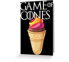 GAME OF CONES Greeting Card