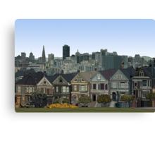 San Francisco Painted Ladies Canvas Print