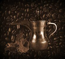 THE LAST DROP..(COFFEE POT-COFFEE BEANS-&ROSE) / PICTURE / TOTE BAG / THROW PILLOW by ✿✿ Bonita ✿✿ ђєℓℓσ