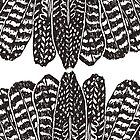 Tribal Feathers  Black by daisy-beatrice