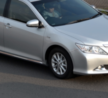 silver colored toyota camry Sticker
