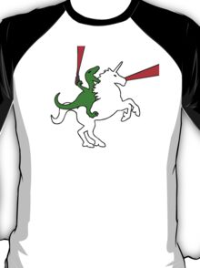 Dinosaur Riding Unicorn T-Shirt