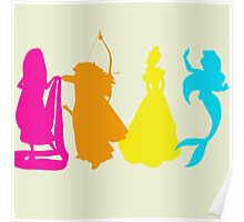 Princess Silhouettes Poster
