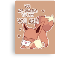 Eevee Love Canvas Print