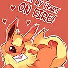 Flareon Love by CutestPikachu