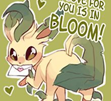 Leafeon Love by CutestPikachu