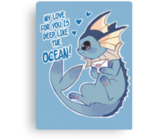 Vaporeon Love Canvas Print