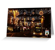 Christmas Lights, North St, Brighton Greeting Card