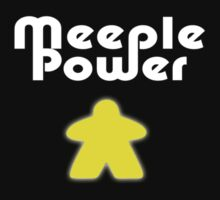 Meeple Power - Spielfigur Männchen - Carcassonne T-Shirt by deanworld