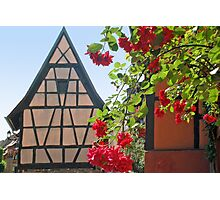 Tiny window in a half-timbered house Photographic Print