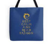 Keep calm and read Eragon (Gold text) Tote Bag