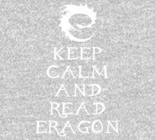 Keep calm and read Eragon (White text) Kids Clothes