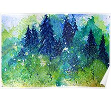 Tree Series - The Pine Trees by Heather Holland Poster