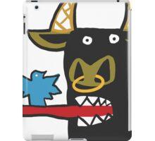 Funny Bull with bird iPad Case/Skin