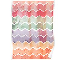 Corrugated Chevron Stripes - Gelati Poster