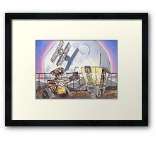 WALL-E & CL4P-TP Framed Print