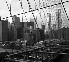 Black White New York Brooklyn Bridge nr 3 by silvianeto