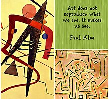 Paul Klee Collage and Quotation by virginia5050