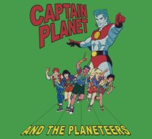 captain planet and the planeteers shirt Kids Clothes
