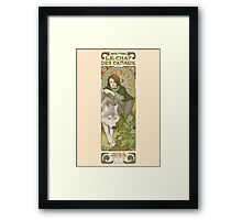 The cat of the canals Framed Print