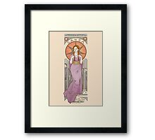 The princess of Winterfell Framed Print