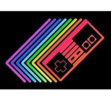 NES Controller Rainbow Photographic Print