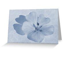 Linen Watercolour Cyanotype Greeting Card