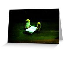 Green Glow Gathering Greeting Card