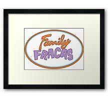 Family Fracas Framed Print