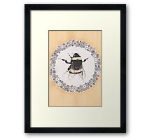 Tears Fall to the Flowerbed  Framed Print