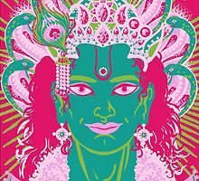 Vishnu in pink and green by sarahstarseed