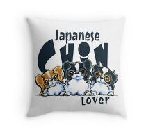 Japanese Chin Lover Throw Pillow