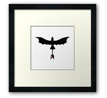 Black Toothless Framed Print