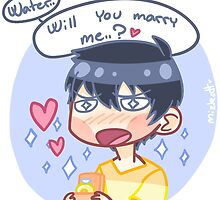 Marry me, water. by mizkatt