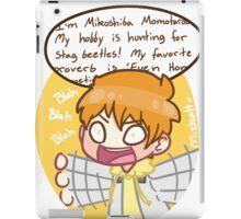 Momo, zip it. iPad Case/Skin