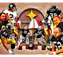 Pittsburgh Steelers Hall of Fame Offensive Legends by SteelCityArtist