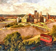 City of Pittsburgh Golden Triangle by SteelCityArtist